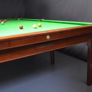 Gillows Billiard or Snooker table 10ft x 5ft circa 1800