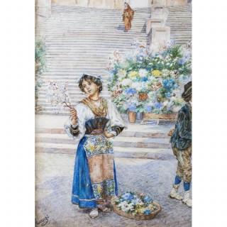 Antique Watercolour Ettore Ascenzi