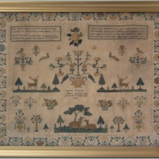 Antique Sampler, 1836, by Sarah Moores