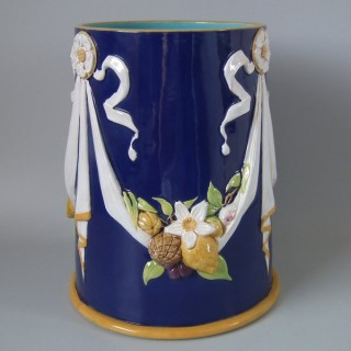 Minton Majoica Festoon Vase (Large)