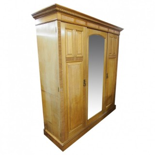 Oak Wardrobe by James Shoolbred and Co