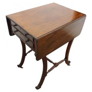 Scottish Regency Mahogany Work Table