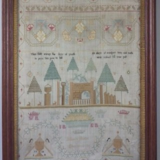 1791 Sampler by Nancy Ritchie Greenock
