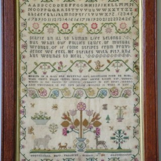 1801 Silkwork Sampler by Mary Phillipson
