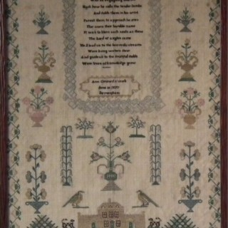 Antique Sampler, 1837, by Ann Cossford