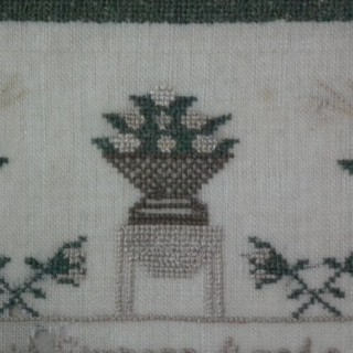 Antique Sampler, 1839 by Harriott Simpson