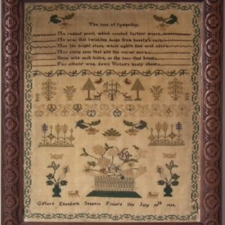 Antique Sampler, 1839, by Gifford Elizabeth Saggers