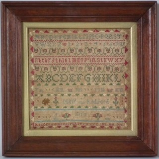 Antique Miniature Sampler, 1755, by Mary Radford