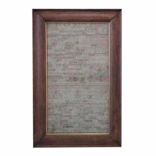 Antique Sampler, 1717 Band Sampler by Anna Prentice