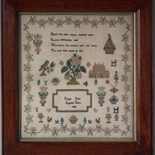 Antique Sampler, 1840, by Emma Allen Aged 12
