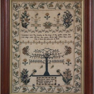 Antique Sampler, 1842 by Margaret Miles
