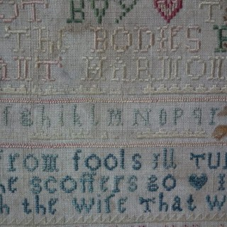 Antique Sampler, 1741 Sampler by Mary Loder