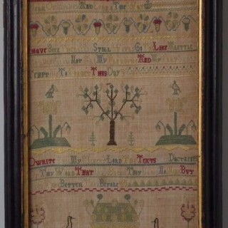 Antique Sampler, 1758, by Elizabeth Mowll