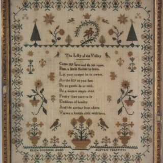 Antique Sampler, 1845, by Eliza Golding