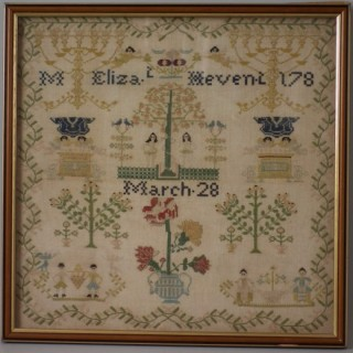 Antique Sampler, 178?, by Eliza. t Hevent