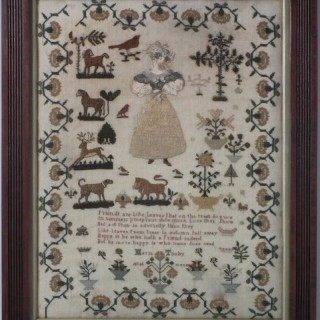 Antique Sampler, by Maria Tooby. c.1820