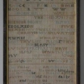 Antique Sampler, 1786, by Honnour Dight