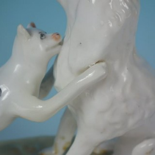 Alcock Staffordshire dog & cat figure
