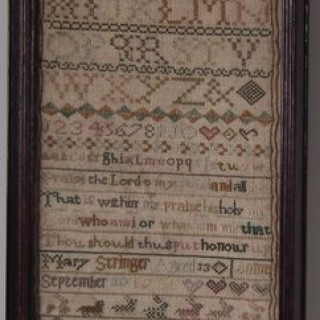 Antique Band Sampler, 1781, by Mary Stringer