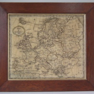 Antique Sampler, c.1800 European Map Sampler by Charlotte Walker