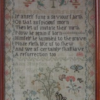 Antique Sampler, c.1820, by Ann Simpson