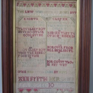 Antique Sampler, 1718, by Ann Frith