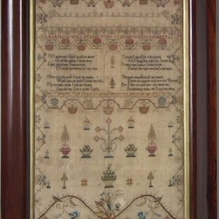 Antique Sampler, 1792 S:Axfords School Sampler by Mary Williams