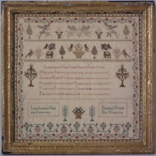 Antique Sampler, 1793 Commemorative Sampler by Elizabeth Holden