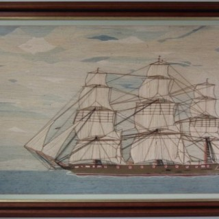 British Sailor's Woolwork Picture of a Ship