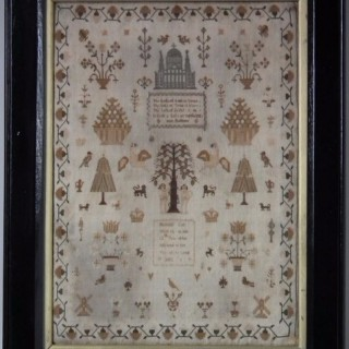Antique Sampler, 1810, by Hannah Gay
