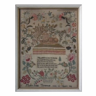 Antique Sampler, 1816, by Mary Ann Toynton