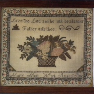 Antique Sampler, 1816, by Mary Moss