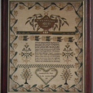 Antique Sampler, 1817, by Eliza James