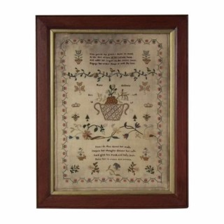 Antique Sampler, 1817, by Mary Dobney