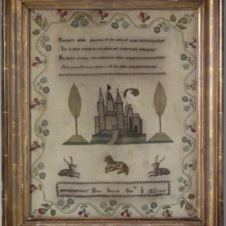 Antique Sampler, 1821, by Mary Skirrow