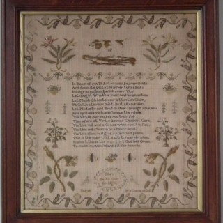 Antique Sampler, 1825, by Sarah Wothers