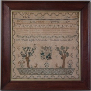 Antique Sampler, 1829, by Ann Waite