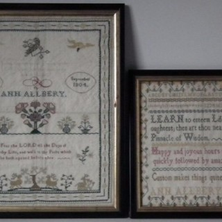 Pair Samplers by Ann Allbery 1803 & 1804