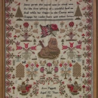 Antique Sampler, 1831, by Ann Piggott