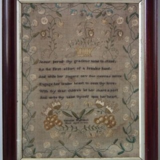 Antique Sampler, 1833 Sampler by Caroline Wightman