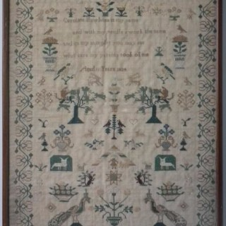 Antique Sampler, 1834, by Catherine Hawkins
