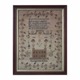 Antique Sampler, 1834, by Charlotte Needle