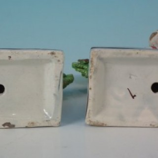 Pair Staffordshire Pearlware child with basket figures