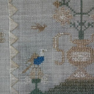 Antique Sampler, 1835, stitched by Sarah Nodes