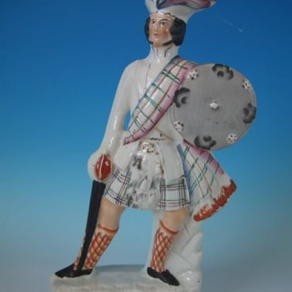 Staffordshire Pottery Figure of 'Wallace'