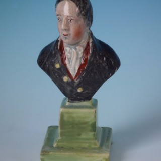 Small Staffordshire Pearlware bust