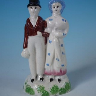 Small Staffordshire Pearlware 'The Dandies' figures