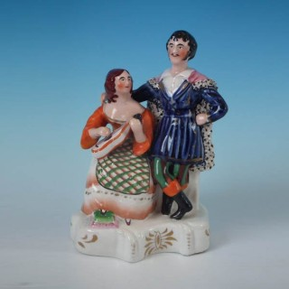 Staffordshire musicians figure group