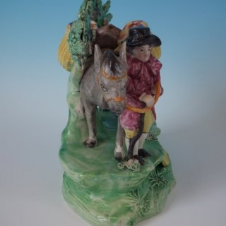 Staffordshire Pearlware Bocage 'Jolly Traveller' Group