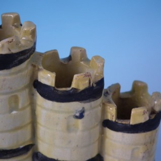 Staffordshire Pearlware castle spill vase